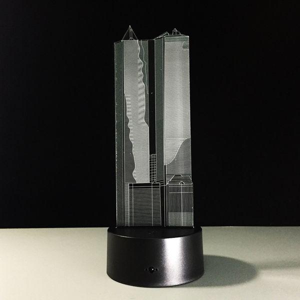 Building 3D Optical Illusion Lamp Night Light DC 5V USB Charging AA Battery Dropshipping Free Shipping