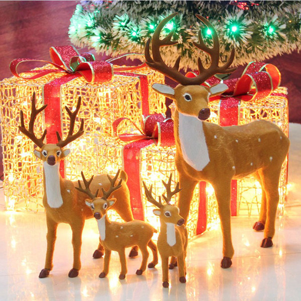 Christmas House.Creative Christmas Decorations For Home Simulation Reindeer Elk Christmas Window Party Decorations Scene Layout Props Ornaments House Decoration