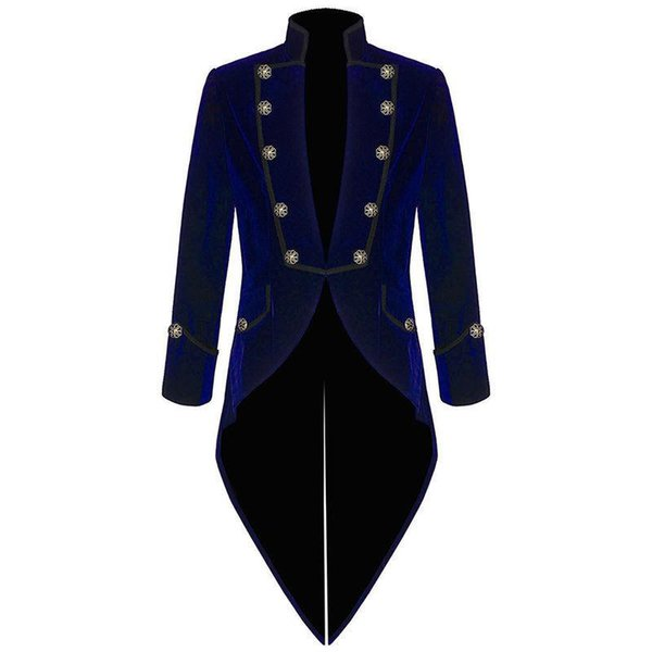 New style Custom made Handsome Velvet Bule Tailcoat Formal Suits Fashion Prom Wears Groomsman suits (Jacket+Pants)