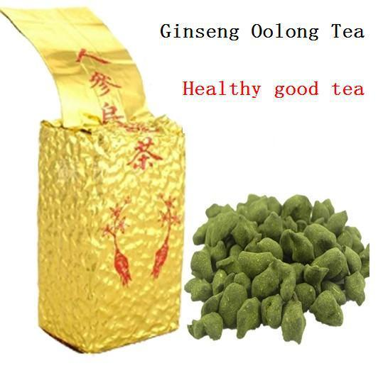 best selling 250g Free Shipping Famous Health Care Tea Taiwan Dong ding Ginseng Oolong Tea Ginseng Oolong ginseng tea +gift Free shipping