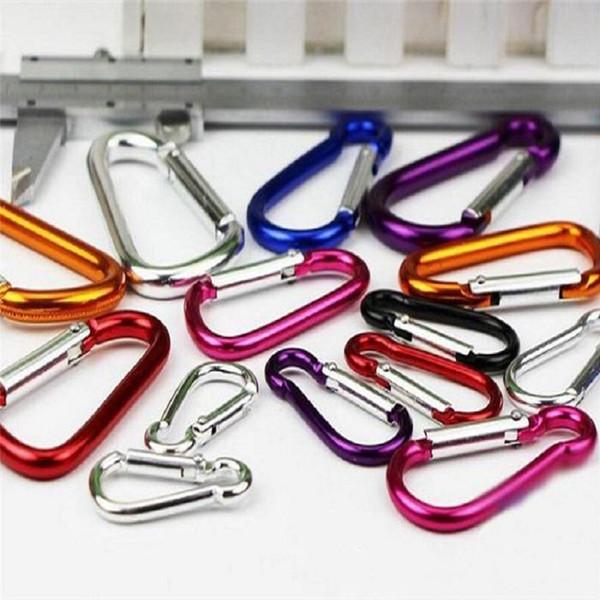 1000pcs/lot cucurbit shape carabiner for decorationgift Aluminium Alloy trip Bottle Hook Camping Hiking Keychain Key Chain