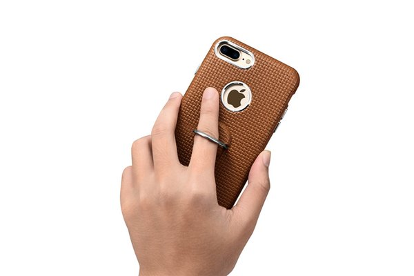iCarer Brand Mobile Phone back case For Apple iPhone 7/7 plus Genuine Leather back Case with Ring Holder stander bags cover