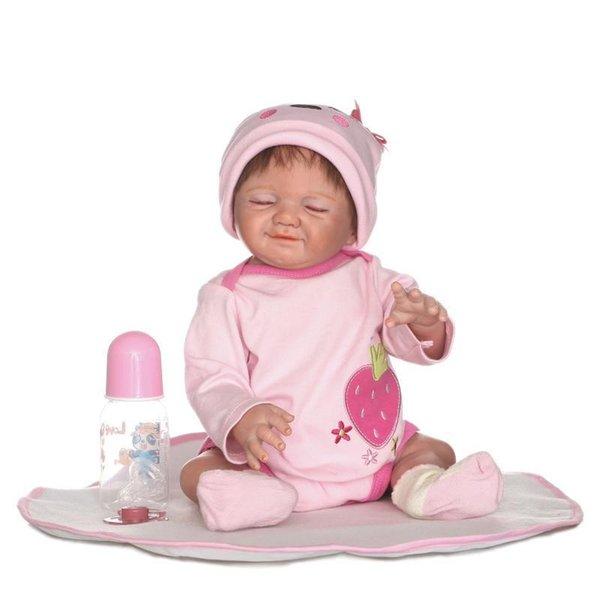 20 Inch Realistic Newborn Baby Doll Full Body Silicone Rrborn Lifelike Baby Boy Toy Sweet Dolls
