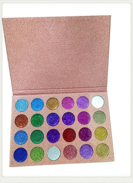 top popular 2017 New brand CLEOF Cosmetics Glitter Eyeshadow Palette 24 Colors Makeup Eye Shadow Palette DHL free shipping 2019