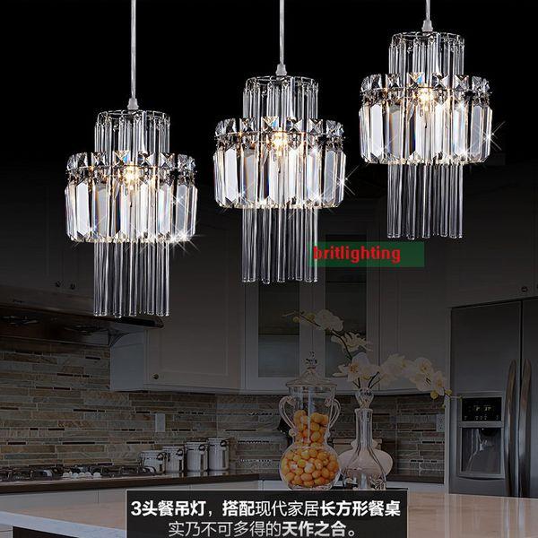 modern pendant lights for dining room led pendant lamp for kitchen crystal pendant light Adjustable Bar restaurant Decoration Wire Lamps