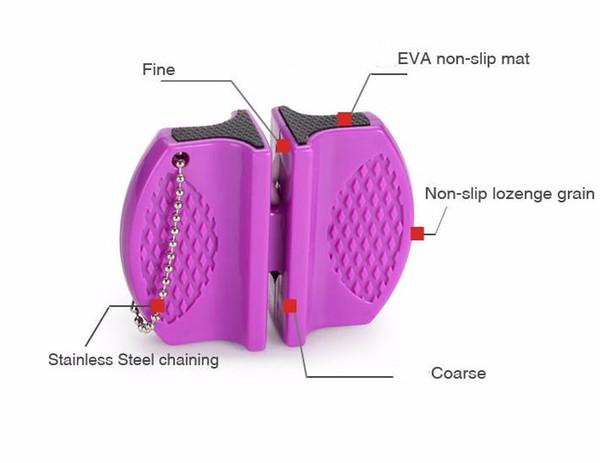 Mini Afiladoras de bolsillo Carburo de tungsteno Cuchillo de varilla de cerámica Sacapuntas Doble ranura y diseño portátil Venta caliente