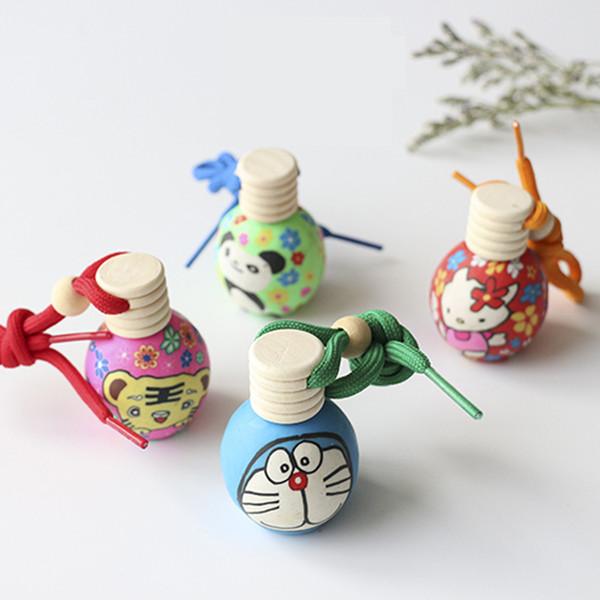 15CC 15ML Car hang Cartoon decoration ceramic Polymer clay essence oil Perfume bottle Hang rope empty bottle Ceramic Essential Oils Diffuser