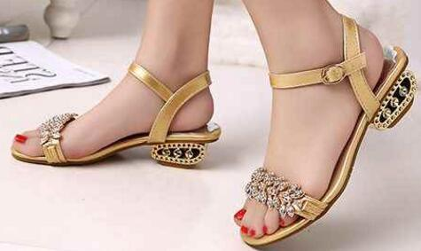 d9628a9e3a Bling Lady 2017 Flat Sandals Rhinestone Flats Open Toe Summer Shoes Womens  Gladiator Sandals Designer Sandals For Women Ladies Shoes Red Shoes From ...