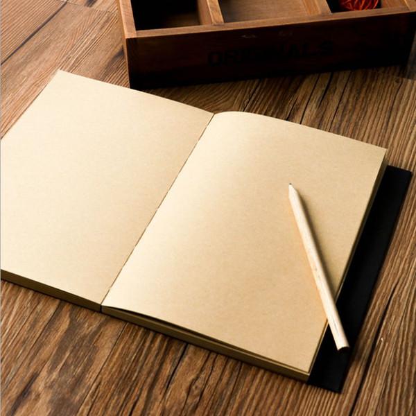 Vintage leather, Notepad, blank diary, traveler's notebook sketch, organizer, stuffed paper, magazine stationery, little Notepad, kraft pape