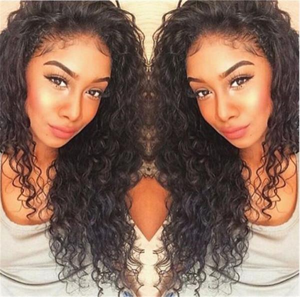 130% Density Lace Front Wig Silk Top Deep Wave Brazilian Virgin Silk Base Full Lace Human Hair Wigs for Black Women FDSHINE