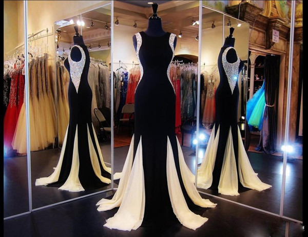 Latest 2017 gorgeous mermaid beaded dress sleeveless Celebrity party women fishtail dress evening wear gowns vestidos