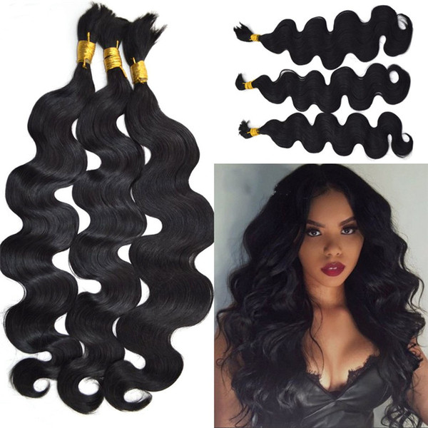 Top Quality Indian Human Hair Bulk Body Wave No Attachment 3 Bundles Bulk Hair Extensions for Braiding FDSHINE