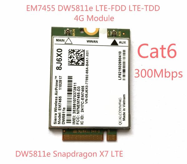 top popular Freeshipping New EM7455 DW5811E PN 8J6X0 FDD TDD LTE CAT6 4G Module 4G Card for E7270 E7470 E7370 E5570 E5470 Precision 7720 7520 3520 7510 2021