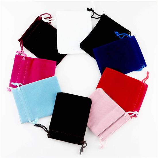 Wholesale 500pcs 5*7cm High Quality Velvet Jewelry Packaging Bags Drawstring Candy Storage Pouches Can Customize Logo Displaying Bags