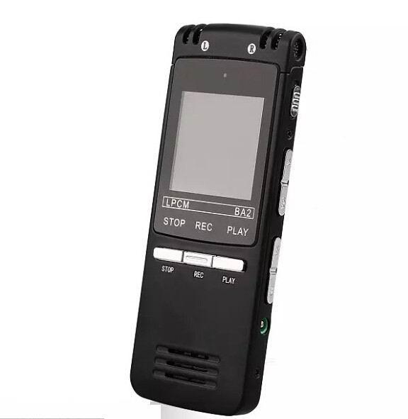 Großhandels- 2016 ultradünne professionelle digitale Audio-Voice-Recorder 8 GB 1536KBPs WAV MP3 Aufnahme indirektionale Dual-Mikrofon