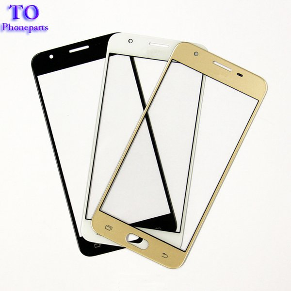 100PCS Replacement Parts for Samsung Galaxy J5 Prime ON5 G5500 J7 Prime ON7 G6000 Front Outer Screen Glass Lens Cover white black gold