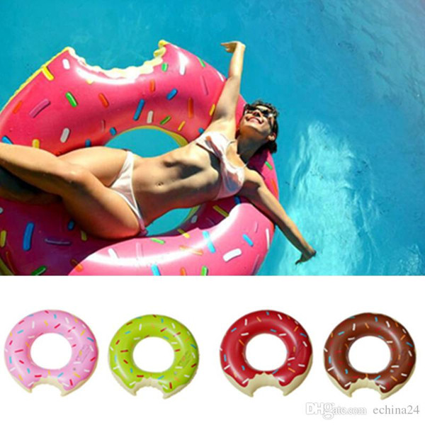 best selling 5 Sizes 4 Colors Doughnut Shaped PVC Swim Ring for Adults Swimming Learners Holiday Water Fun Pool Toys