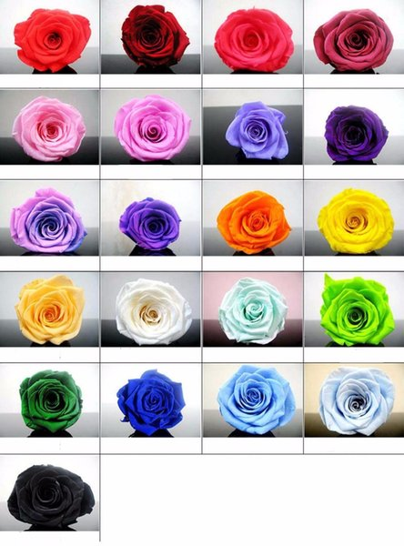 24pcs 2-3cm Preserved Flower Rose Bud Head For Wedding Party Holiday Birthday Velentine's Day Gift Favor
