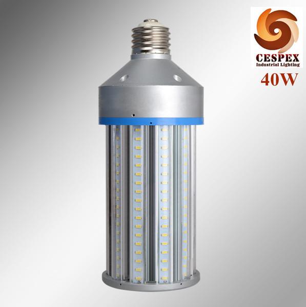 5200lm alto brillante UL DLC AC110V 220V exterior poste superior E40 E39 40w LED lámpara de bombilla de maíz con 80000 horas de vida útil