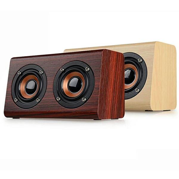 New W7 wood speaker MP3 Player Bluetooth Speaker Music Hifi USB Player Module support tf card Portable Speaker