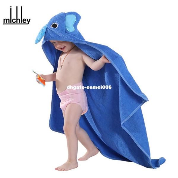 dhgate Kids Towel 2017 Toddler 100% Cotton Bathrobe Baby Boys Girls Spring Animal Hooded Bath Towel Children Cartoon Towel QWA