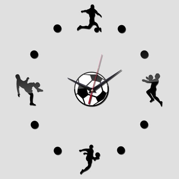 Wholesale- 2016 new 3d decorative wall clocks stickers watch free shipping quartz plastic acrylic real promotion needle circular