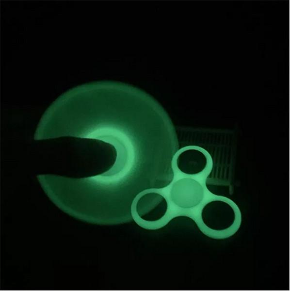 best selling Luminous Fidget Spinner Hand Spinner Tri Fidget cube stainless steel Ball HandSpinner Fingertips Desk Focus Toy EDC For Killing Time gifts