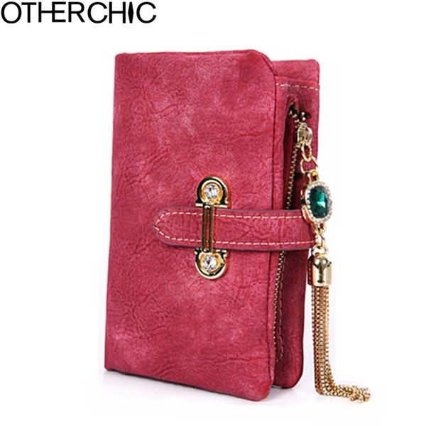 Wholesale- OTHERCHIC Small Wallet Casual Women Wallets Slim Wallet Coin Purse Portefeuille Card Holder Wallet For Women Purses 16Y04-20