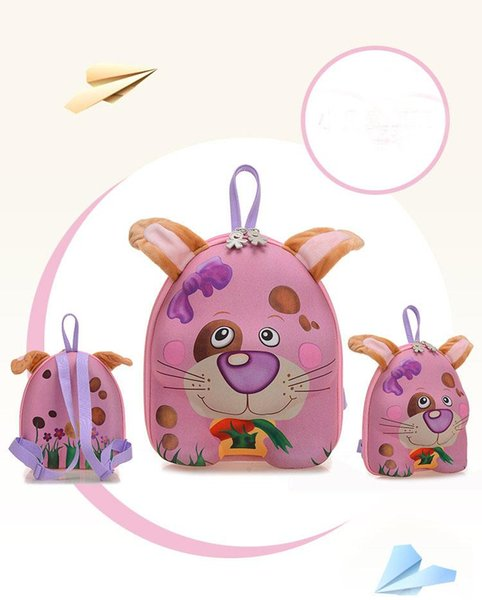 New Arrival 3D Animal For Kids kindergarten School Bags Backpack Cute Cartoon Bags Kids Girls 9 Styles Bags With High Quality