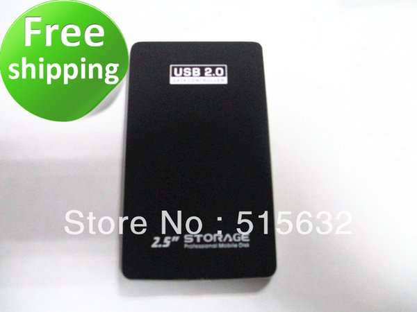 Wholesale- USB 2.0 Sata 2.5 External HDD Hard Disk Drive Enclosure Case Laptop Ide Computer black