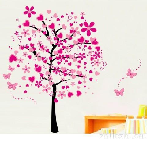 Pegatinas de pared para la habitación Eco Friendly Love Tree Calcomanías Nursery PVC impermeable Wall Art Home Decor Sticker Venta caliente 7lk J R