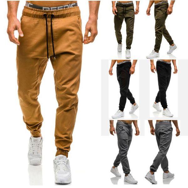 top popular Men Joggers 2019 New Casual Pants Men Brand Clothing High Quality Spring Long Khaki Pants Elastic Male Trousers Mens Joggers 3XL 2019