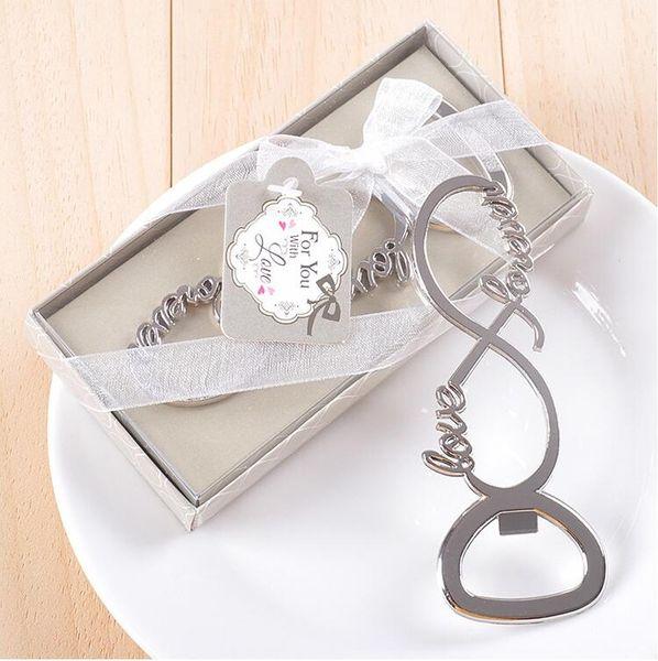 Love Bottle Opener In Box Bomboniere Regali Bomboniere Souvenirs Per ospiti per te Lettera d'amore