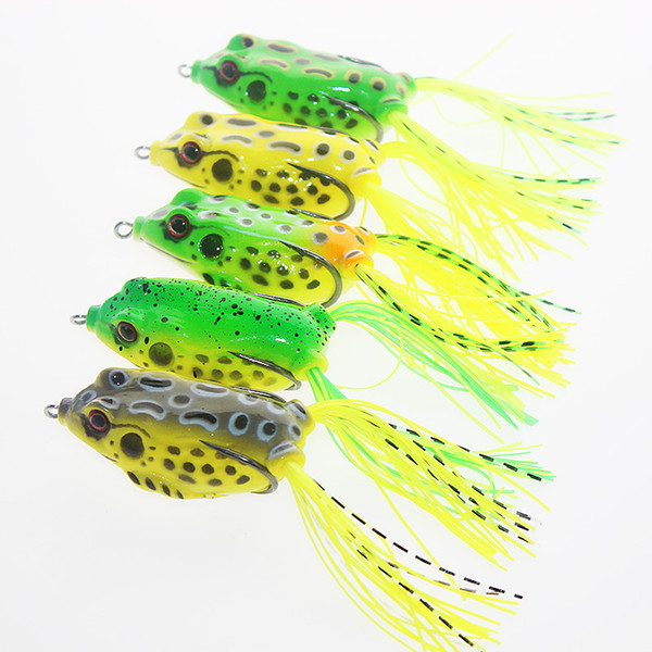 top popular New Ray Frog Floating Artificial Freshwater Fishing Lure 5colors 6.5cm 14g Topwater Fishing pesca bass Soft baits 2021