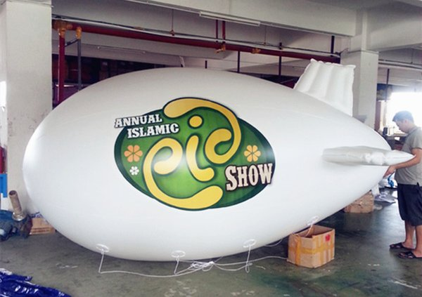 4m/5m/6m PVC Inflatable Helium Zeppelin Printed Advertising Blimp Floating Balloon for Event and Parade