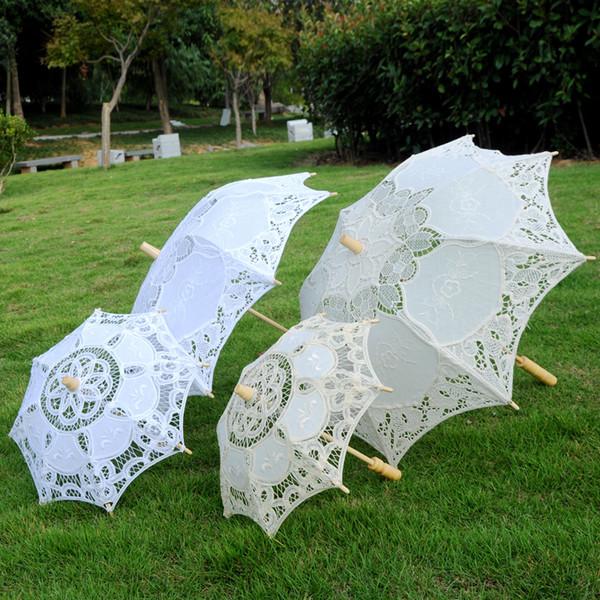 Victorian Lace Parasol Retro Umbrella Vintage Bridal Accessories Wedding Party Romantic European Style