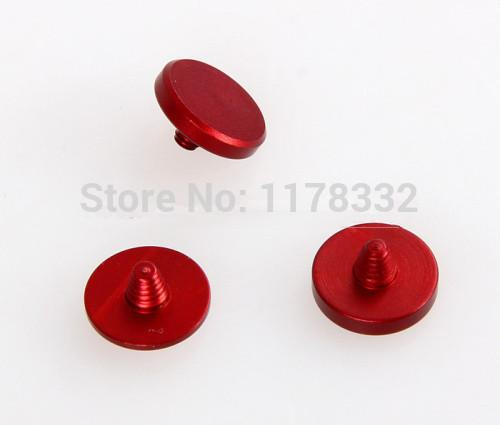 Al por mayor-3 unids / 1set rojo botón disparador suave disparador para Fuji X100 100s X20 X10 Leica M4 M6 M7 cámaras SLR