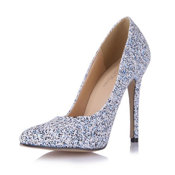 Colorful Women Dress Shoes Pumps 2017 Plus Size Slip On High Thin