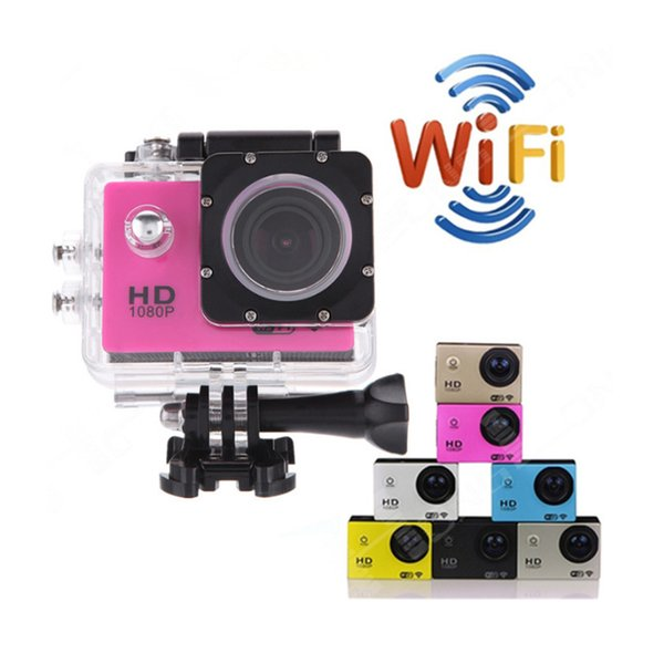 Wholesale-Waterproof Camera 2.0inches Screen 1080P Wifi 170 wide angle Outdoor Sports Digital Camera HD DV New Style Factory China