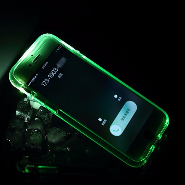 Led Flash Phone Case for iPhone 7 7 plus Light Flash Calling notice Tube series phone case