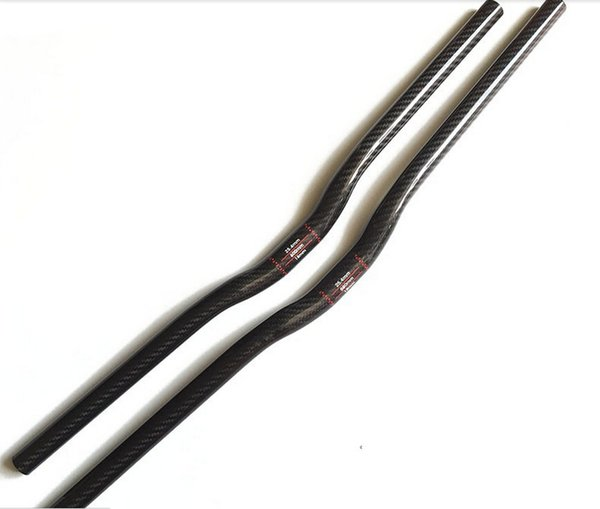 High Qanlity Road Bike Handlebar Matte Riser / Flat Bar Bicycle carbon fibre Handlebars Bike Parts 25.4*620-740mm