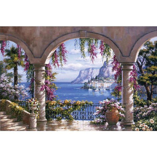 Acquista Handmade Sung Kim Dipinti Floreali Patio Arte Moderna Giardino  Paesaggi Marini Su Tela Arredamento Soggiorno A $126.64 Dal Cherry02016 |  ...