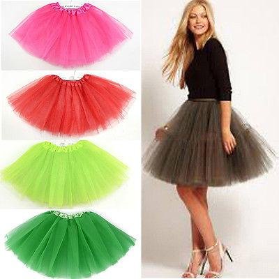 1 pezzi 14 colori 3 strati tutu di balletto gonne Girfs adulti a vita alta mini dress