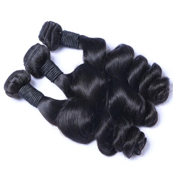 Extensions de cheveux indiennes brésiliennes péruvienne européenne malaisienne vague lâche 100% cheveux originaux 3PCS / LOT 10