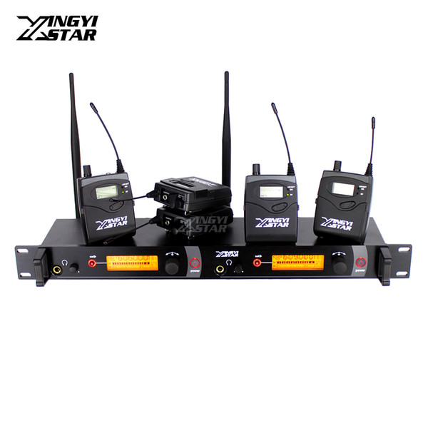Wireless In Ear Monitor Professional Stage Monitoring System Five Bodypack Receiver With One Cordless Transmitter Monitors in Headphone