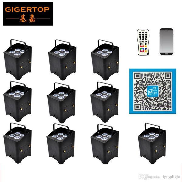 Цена со скидкой 12 Пакет 4x6W 2.4G беспроводной батареи Инфракрасный Свобода Led Par свет сотовый телефон App дистанционного управления Встроенные антенны