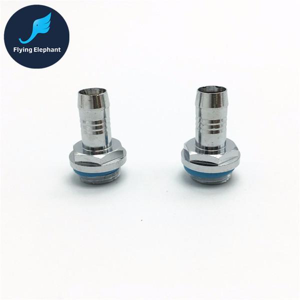 Al por mayor-envío gratis 1 Pieza G1 / 4 '' conector de tubo de cobre junta Pagoda enfriamiento de agua para ID 7-8mm 9-10mm tubería, instalación de tuberías de agua
