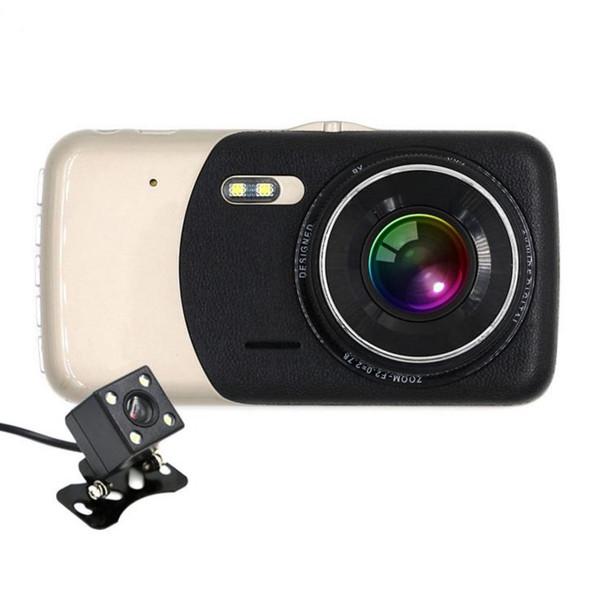 10 adet Profesyonel Çift Lens 4.0 Inç 1080 P Araba Kamera Yüksek Çözünürlüklü Gece Görüş Araba DVR Sürüş Kaydedici Araba Styling Sıcak Satış