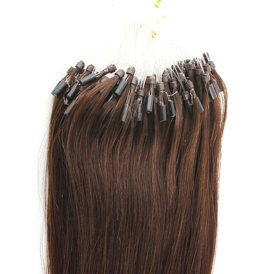 Grade 7A--Micro Ring Hair extension 12''-28'' Link Hair Eextensions 1g/s 100g per lot Straight wave hair Brown Color Free DHL