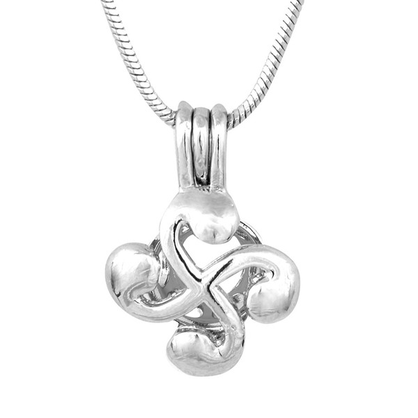 18KGP Little Whirlwind Cross Lockets, Pearl Gem Bead Cage Pendant Mountings, Cyclone Pendant Charms